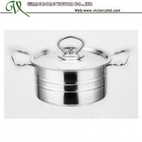 Wholesale Stainless steel Stripe Belly Casserole Set 16 18 20cm Cookware set Vinod dish set right angle V-DSC from china suppliers