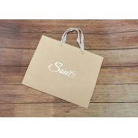 Wholesale Light Strong Customized Size Design Eco-friendly Paper shopping bags SGS,FDA certificate with white fabric Handle from china suppliers