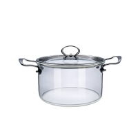 Wholesale Custom Made Transparent High Borosilicate Glass Soup Pot from china suppliers