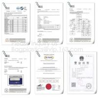 YANTAI BAGEASE PACKAGING PRODUCTS CO.,LTD Certifications