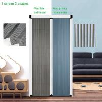 China factory Polyester pleated mesh trackless retractable fly screen door
