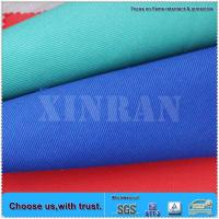 Wholesale EN11611 cotton material washable woven twill flame retardant yarn dyed fabric from china suppliers