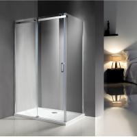 Quality 1200X800 MM Popular Bathroom Shower Enclosures With 8MM Glass / Stainless Steel Track for sale