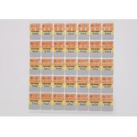 Buy cheap Semi Gloss Paper Food Safety Stickers Scratchproof For Suitable Food Package Ap3001 from wholesalers