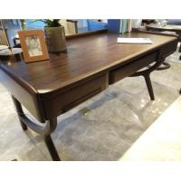 China 1.5m European Solid Wood Furniture Wood Writing Desk With Keyboard Drawer Two Drawers on sale
