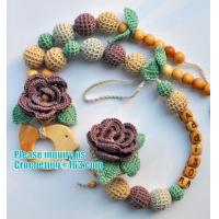 Buy cheap baby name pacifier holder, wood bead pacifier clip , baby shower gift, dummy from wholesalers