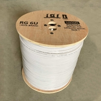 Wholesale Tril Shielded RG6U 75 Ohm Coaxial Cable OEM CATV Electronics Wire CPR Euroclass Eca from china suppliers