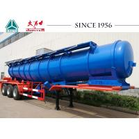 Quality 18000 Liters Stainless Steel Acid Tanker Trailer Long Using Life With BPW Axles for sale