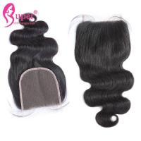 Wholesale Middle Part Virgin Hair Closures 5x5 Natural Hair Brazilian Body Wave Swiss Lace from china suppliers