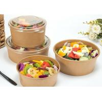 Wholesale Vegetable Kraft Paper Bowls With Lids , PE Coating Disposable Paper Bowls from china suppliers