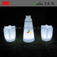 Buy cheap Plastic LED Table And Chairs Outdoor Lighting Led Sexangle Stool CE UL Standard from wholesalers