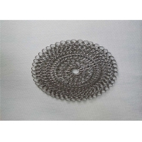 Wholesale 6''X6'' Round BBQ Stainless Steel Chainmail Scrubber from china suppliers