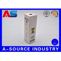 Wholesale White Package Box Gold Foil Shiny Vial Carton Box With Scratch Off Security Code from china suppliers