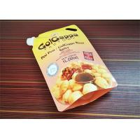 China Flexible Package Flat Bottom Filling Spout Pouch Packaging Plastic Bag For Sauce on sale