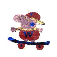 Buy cheap Peppa Pig Sequin Embroidery Patches Logo Embossed , Deboesed 10-20CM from wholesalers