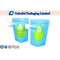 Stand Up Zippper Spout Pouch for Liquid  , Spout Bags for Beverage Packaging