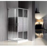 Wholesale Grey Silk Painted Glass Shower Enclosures 900 X 900 For Model Rooms / Supermarket from china suppliers