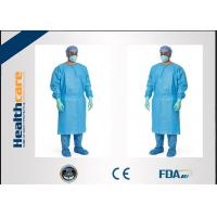 Wholesale Red / Green Disposable Surgical Gowns Against Liquid Biodegradable Elastic Cuff 16-80gsm from china suppliers