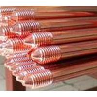 China Professional Copper Bonded Ground Rod Threaded /  Pointed Type on sale