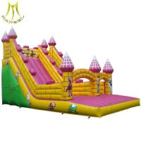 Wholesale Hansel inflatable air castle jumping slide outdoor for children in water park from china suppliers