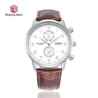Buy cheap Automatic Leather Strap Wrist Watches For Business Men / Leather Wristband Watch from wholesalers