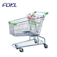 Wholesale Unfolding Steel Shopping Trolley , Wire Shopping Cart With Wheels from china suppliers