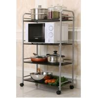 Wholesale 4-Tier Kitchen Metal Trolley Cart Easy To Move With 4 Omnidirectional Casters from china suppliers