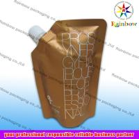 Wholesale side spout pouch packaging for drink, bottom gusset bag from china suppliers