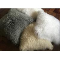 Wholesale Mongolian Fur Decorative Pillow Mongolian Lamb Fur Throw Pillow Pure Mongolian Throw Pillow from china suppliers