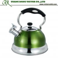 Wholesale 3L Stainless steel whistling Camille water kettle tea pot  High quality mix colors yellow, orange,red, blue, green from china suppliers