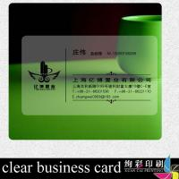 Buy cheap School Transparent PVC Card Embossed Injekt Printable HICO / LOCO from wholesalers