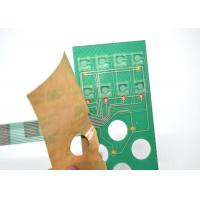 Buy cheap Push Button Single Membrane Switch LED , Flat PCB Membrane Switch Panel from wholesalers