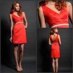 Wholesale High Waisted Short SplitSkirt Graceful Red V Back Prom Dresses Sleeveless from china suppliers