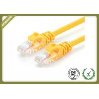 Buy cheap 24AWG Cat6e Fiber Patch Cord , Internet Patch Cable Pure Copper Multi Stranding Wire from wholesalers