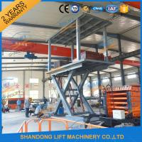 Wholesale 5T 3M Hydraulic Car Lift for Home Garage Basement 2 Car Parking Scissor Lift CE from china suppliers
