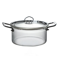 Wholesale Kitchenware 5L Borosilicate Transparent Glass Soup Pot from china suppliers