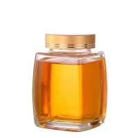 Buy cheap Eco Friendly 360ml 750ml Square Glass Honey Jars With Metal Lid from wholesalers