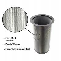 18/8 Stainless Steel Cold Brew Coffee Maker Filter Cylinder 8.3cm Top Dia