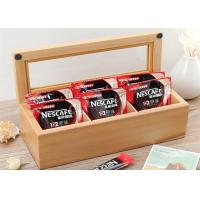Wholesale Wood Glass Clear Top Tea Bag Presentation Box  , Coffee Wooden Tea Storage Box from china suppliers