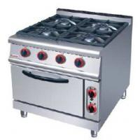 China Silver Electric Oven Commercial Cooking Equipment Gas Range With 4 Burner 7 on sale