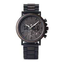 Buy cheap Delicate Quartz Gents Wrist Watch Environmental Protection Round Pale Wood Chain from wholesalers