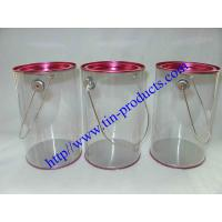 China Clear Paint Can / PVC Bucket/ Clear Pails/ PVC &PET Tin Can Buckets from Goldentinbox.com on sale