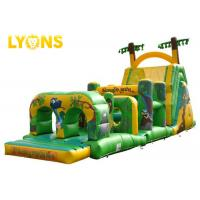 Buy cheap Green Funny Monkey Blow Up Obstacle Course Outdoor Toys For Kids from wholesalers