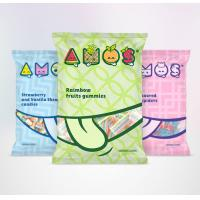 Buy cheap Snack Food Plastic Zipper Pouch 3 Side Seal Bag With Tear Notch Full Color from wholesalers