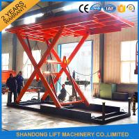 Buy cheap Red 5T 3.5M Electric Hydraulic Scissor Car Lift for Car Parking from wholesalers