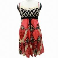 Wholesale Elastic Wrap with Button Decoration Strapless Dress from china suppliers
