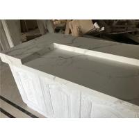 Modern House Prefab Kitchen Countertops Calacatta White Quartz Bar Top