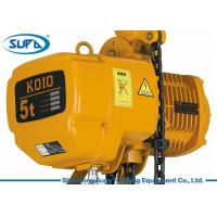 Wholesale Inverter Controlling Hoist Lifting Equipment , Electric Hoist Trolley Fixed Hook Design from china suppliers