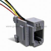 China Modular Connector with Phone Cord Color Code/Coiled Stripped Wire for Handphone Telephone Cable on sale