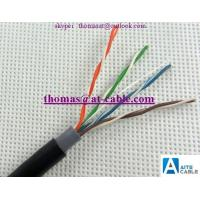 Wholesale outdoor UTP CAT5E Lan cable 4 Pair Pass Fluke Test doulble Sheath PVC+PE from china suppliers